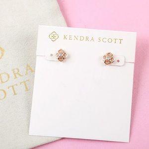 NEW Kendra Scott Rue Stud Earrings In Rose Gold